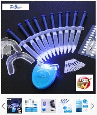 Teeth Whitening Kit 10 X Tubes 2 Trays 1 White Led Light Best 44 Cp Gel Usa Ebay