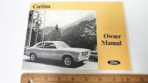 1970-FORD-Cortina-Original-Owner-039-s-Manual-w-ID-Excellent-Condition-US