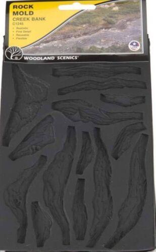 Woodland Scenics 1245 Rock Mold - Creek Bed Rocks, Flexible, Reusable - NIB