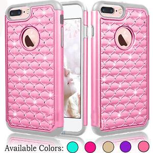 Glitter-Bling-Hybrid-Rubber-Shockproof-Phone-Hard-Case-Cover-for-iPhone-8-Plus