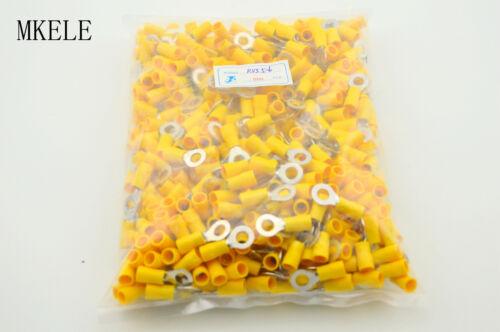 500PCS  RV5.5-6 Circular Pre Insulating 12-10AWG Wire Crimp Ring Terminals