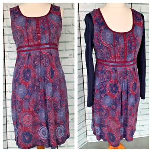 MANTARAY-2-in-1-Summer-Dress-With-Separate-Top-Sz-12-UK-100-Cotton-b34