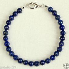 Lapis Lazuli Bracelet 6mm Lapis Beads 6 mm Blue Beads Bracelet