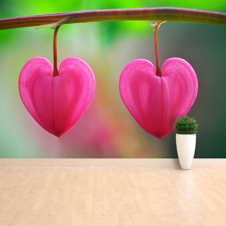 Fototapete Selbstklebend Einfach ablösbar Mehrfach klebbar Blume Herz