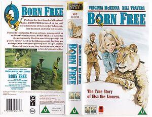 BORN-FREE-VHS-PAL-BILL-TRAVERS-VIRGINIA-McKENNA-GEOFFREY-KEEN-BARGAIN-60-039-S-NEW