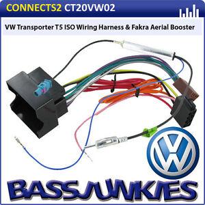 vw transporter t5 car van radio stereo iso wiring harness. Black Bedroom Furniture Sets. Home Design Ideas