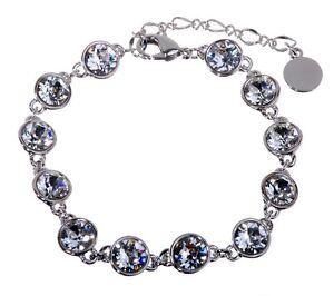 Swarovski-Elements-Crystal-Brilliance-Tennis-Bracelet-Rhodium-Authentic-7101y
