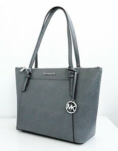 Details about Michael Kors Bag Ciara LG Ew Tz Tote Bag Saffiano Heather Grey New 35f8sc6t9l