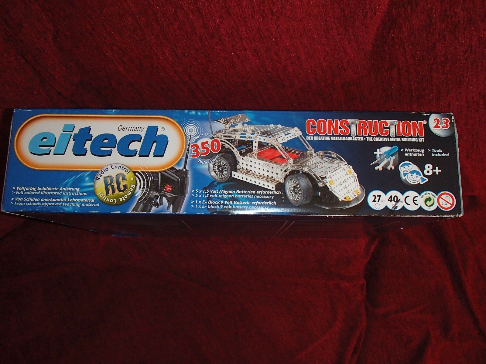 EITECH EITECH EITECH Metal Racing Car Construction No.23 With Remote Control 3f5445