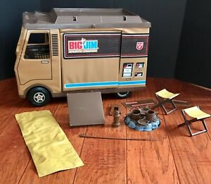 Vintage Big Jim plastic campfire