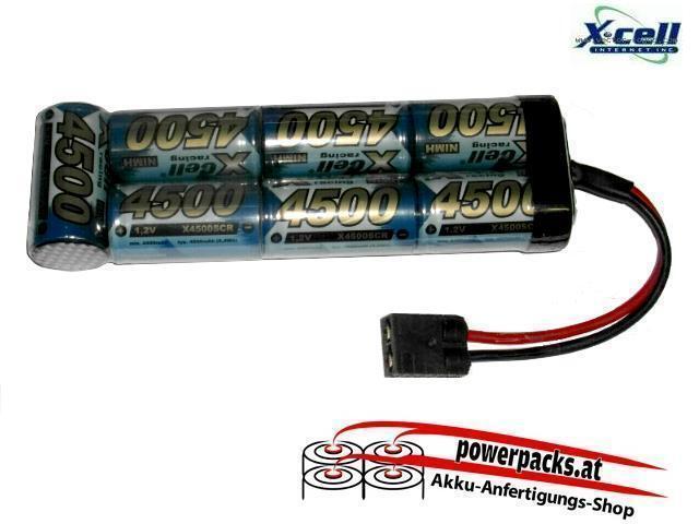 TOP Leistungs - Fahrakku X-Cell SCR 8.4V4500 mAh mit TRAXXAS Buchse