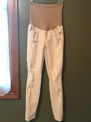 017d3d04cc598 AG Adriano Goldschmied Skinny Distressed White P Collection Maternity Jeans  25
