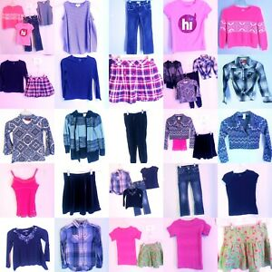 Girls-Size-7-8-Jeans-Clothes-Lot-Sweaters-Shirts-Tops-Outfits-CLOTHING