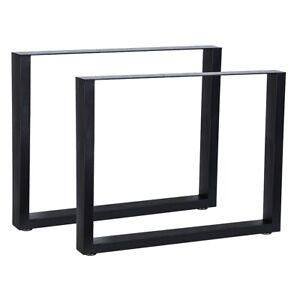 2x Tischgestell Schwarz 90x72 Cm Tischuntergestell Tischkufen