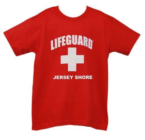 Lifeguard Kids Jersey Shore T-Shirt Official Junior Life Guard Tee Red Youth
