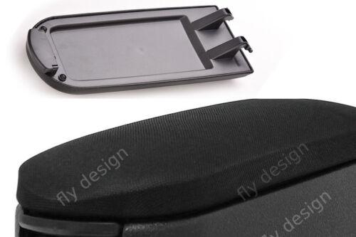 Couvercle Capot Textile Noir Pour Original accoudoir NEUF SKODA ROOMSTER à partir de 2006