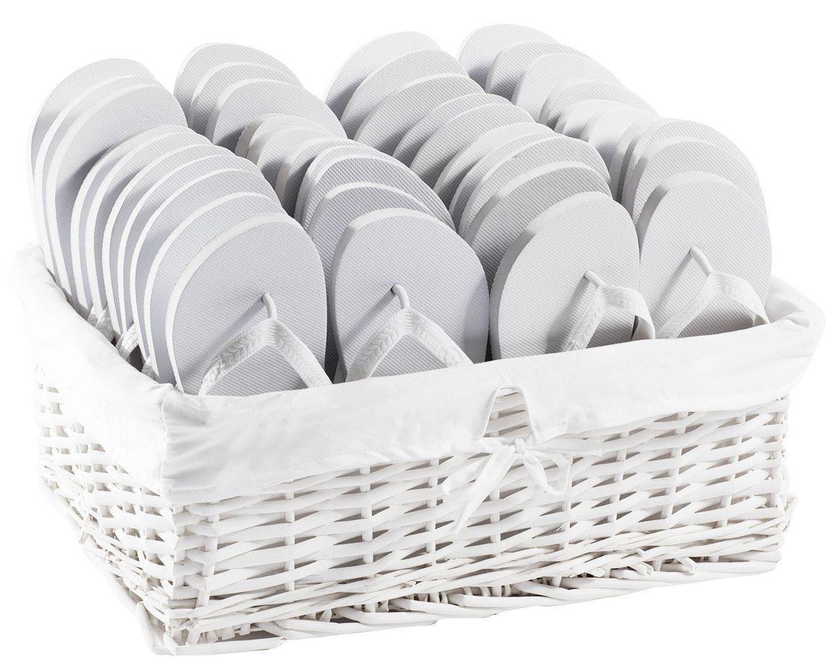 Zohula Original Weiß Flip Flops Partypaket - 20 Paare - Auswahl von Größen