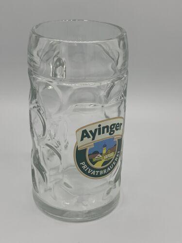 Bier AYINGER Brewery Beer Mug Mug Glass with Handle Bavaria Germany