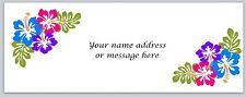 30 Personalized Return Address Labels Hawaii Flower Buy 3 get 1 free (bo 981)