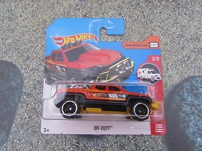 Hot Wheels 2017 #019//365 RESCUE DUTY orange HW Rescue