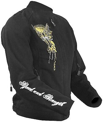 Women/'s Speed and Strength Tough Love Motorcycle Street Jacket Black XS S M L