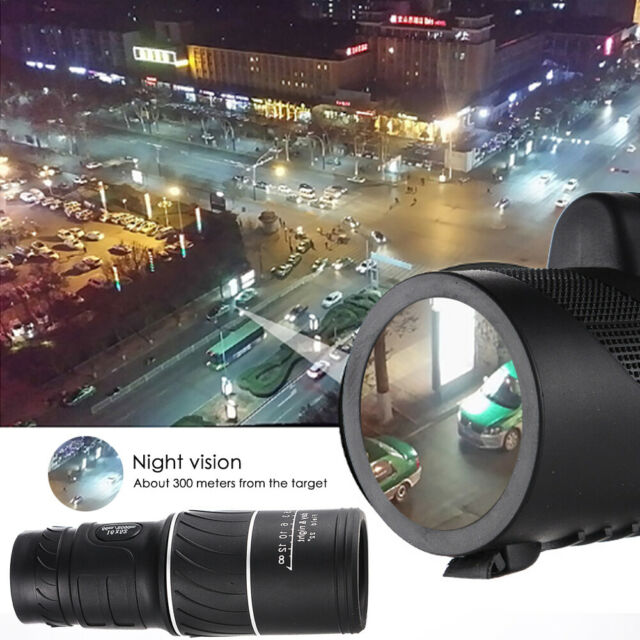 16X52 BAK4 Prism NEW Day Night Vision Mini High Definition Monocular Telescope