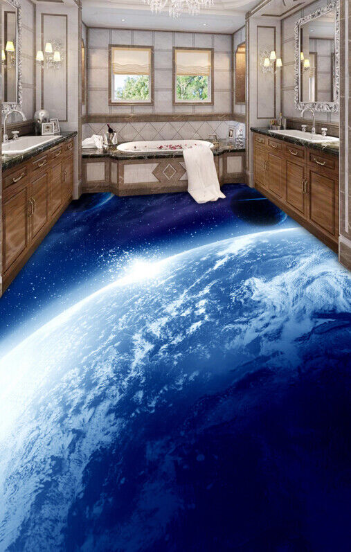 3D Planet Blau 409 Fototapeten Wandbild Fototapete Tapete Familie DE Lemon