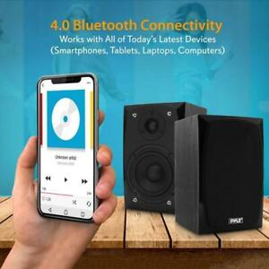 Pyle PBKSP22 HiFi Desktop Monitor Speakers Pair - 300 Watt Powered Bluetooth Compatible Active Canada Preview