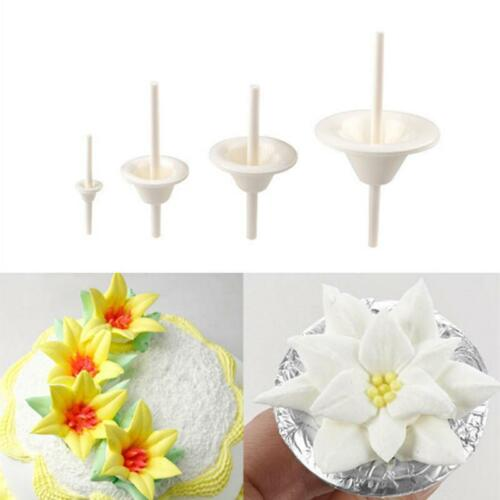 Lily Flowers Fondant Cookie Clay Cutters Cake Mold Mould Decorating Tool BL