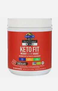 Dr. Formulated Keto Fit Weight Loss Shake, Fair Trade Chocolate, 12.87 oz (365