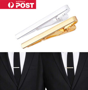 Gold-Silver-amp-Black-Tie-Pin-Bar-Clip-Clasp-Mens-Womens-Jewellery