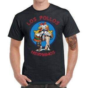 Breaking-Bad-Men-T-shirts-Funny-Los-Pollos-Hermanos-Tee-Shirt-Short-Sleeve-Tops