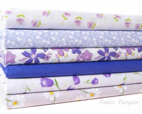 Fabric Bundles Polycotton Fat Quarters Floral Roses Childrens Material Nursery