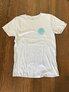 Quiksilver-T-Shirt-Tee-Surf-Skate-Snowboard-Off-White-Grey-Size-L