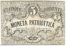 VENEZIA MONETA PATRIOTTICA 5 LIRE CORRENTI 1848 BANCONOTA