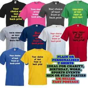 Personalised custom printed t shirts tee shirt mens womens for Custom t shirt uk