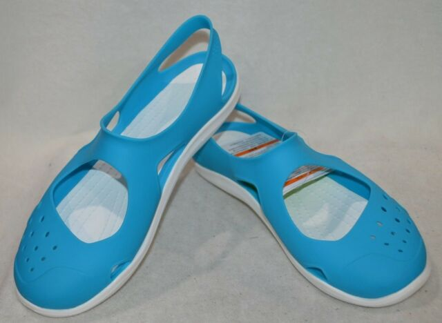 021f57f93eb5 Crocs Women s Swiftwater Wave Electric Blue Sandals 203995-404 - Asst Sizes  NWOB