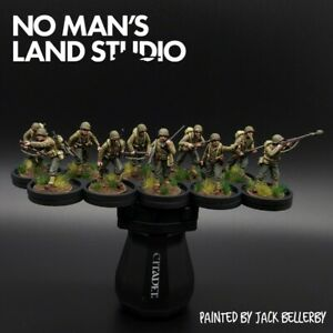 Pro-Painted-28mm-Perry-Us-1st-Infantry-Division-Squad-10-Men-Bolt-Action
