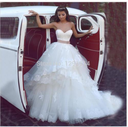 Long Vestido De Noiva Tulle China A line Lace Elegant Belt Ivory Boho Bridal Gow