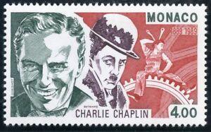 Humble Stamp / Timbre De Monaco N° 1680 ** Charlie Chaplin / Acteur Metteur En Scene Laissons Nos Produits Aller Au Monde