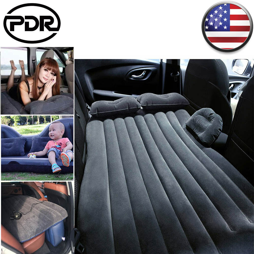 US Car Air Bed for Outdoor Camping Travel Inflatable Mattress Back Seat  Cushion