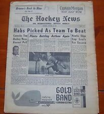 The Hockey News October 20 1962  Jacques Plante