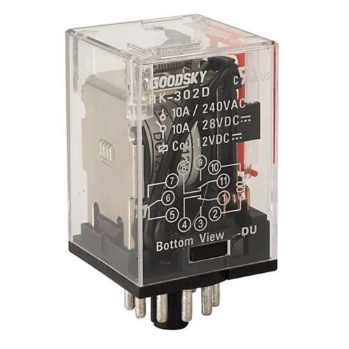Good Sky RK-302D 3PDT 10A Power Relay 12VDC