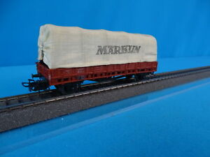 Marklin-313-3-4609-Rungenwagen-with-canvas-cover-vers-2-of-1957-in-OVP
