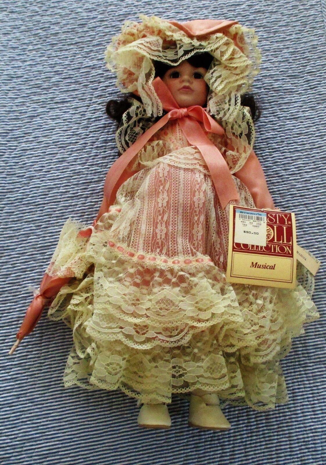 fabbrica diretta VINTAGE DYNASTY DYNASTY DYNASTY MUSICAL PORCELAIN bambola.  MARINA . W  COA & ORIGINAL scatola & STe.  ecco l'ultimo