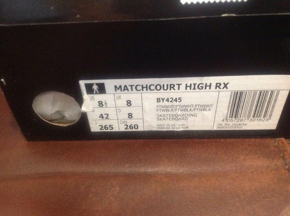 Adidas Matchcourt High RX Shoes - Running White Full White Comfortable The latest discount shoes for men and women