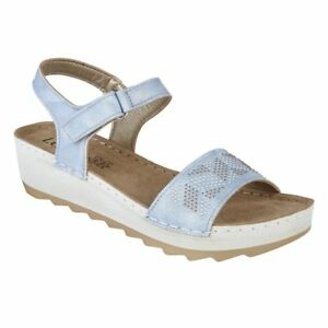 Sandals About Wedge Lotus Massari Blue Details b67Yfyvg