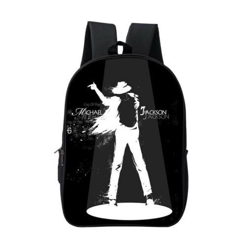 Michael Jackson 3D Print Fashion Bag Girls Boys Travel School Backpack A31