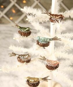 Bethany-Lowe-Glass-Bird-in-Nest-clip-on-ornament-various-colors-to-choose-from