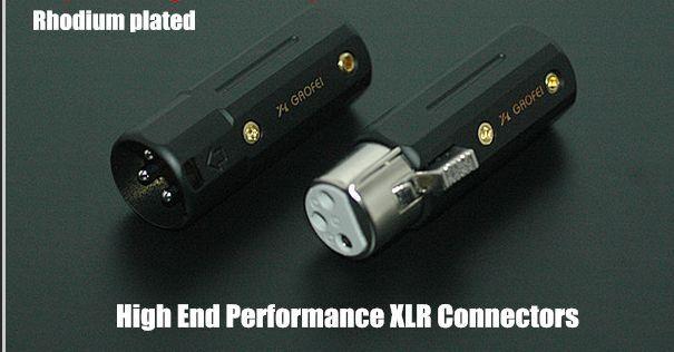 4x HIFI gaofei Berilio Cobre Rodio Plateado XLR Plug Conector Conector Conector c2121b